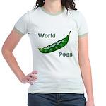 World Peas (2-Sided) Jr. Ringer T-Shirt