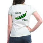 World Peas (DesignOnBack) Jr. Ringer T-Shirt