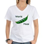 World Peas Women's V-Neck T-Shirt