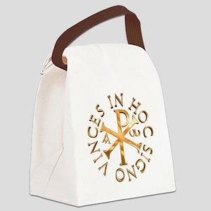 Chi-Rho Canvas Lunch Bag