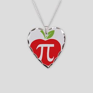 Apple Pi Necklace Heart Charm