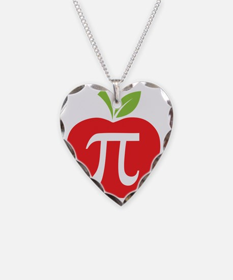 Apple Pi Necklace Heart Charm