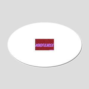 Aa-mindfulness blu-purp 1-25 20x12 Oval Wall Decal