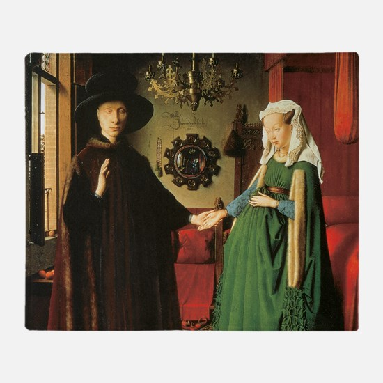 Jan van Eyck The Marriage Throw Blanket