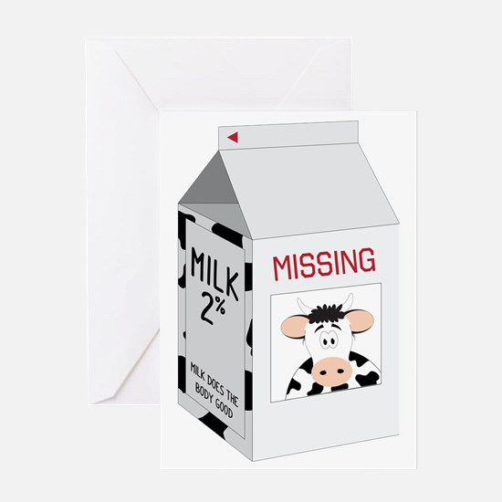 Milk Carton Greeting Card