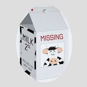 Milk Carton Oval Ornament