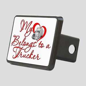 Trucker Heart Rectangular Hitch Cover