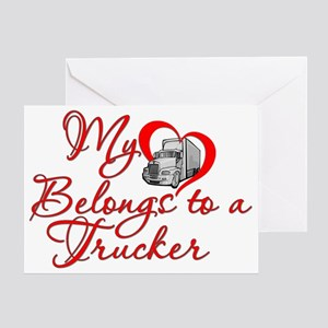 Trucker Heart Greeting Card