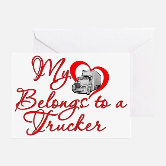 Trucker Heart Greeting Card