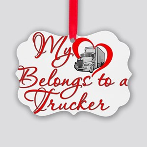 Trucker Heart Picture Ornament