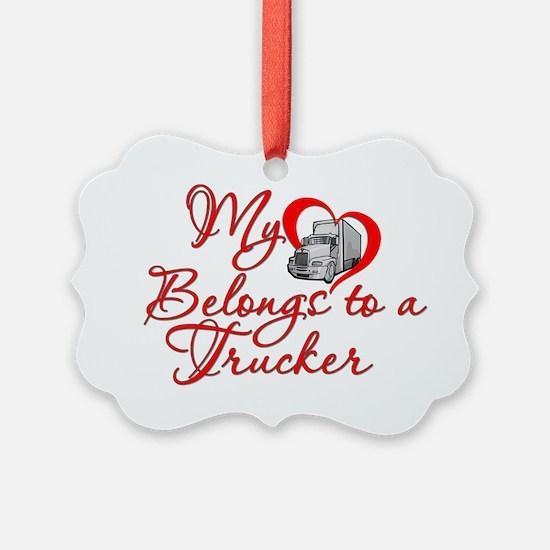 Trucker Heart Ornament