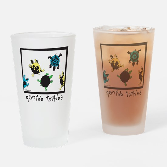 Mean PaintTur Boxers Drinking Glass