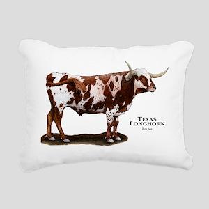 Texas Longhorn Rectangular Canvas Pillow