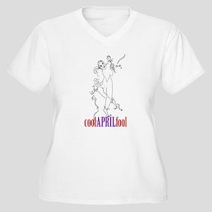 April fool Jester Women's Plus Size V-Neck T-Shirt