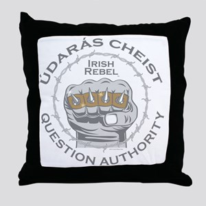 Irish Rebel Gear (TM) Question Author Throw Pillow