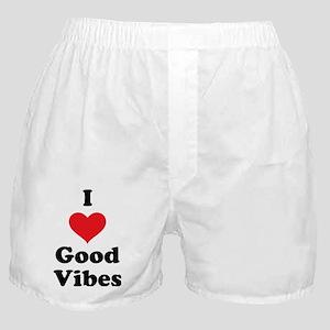 I Love Good Vibes Boxer Shorts