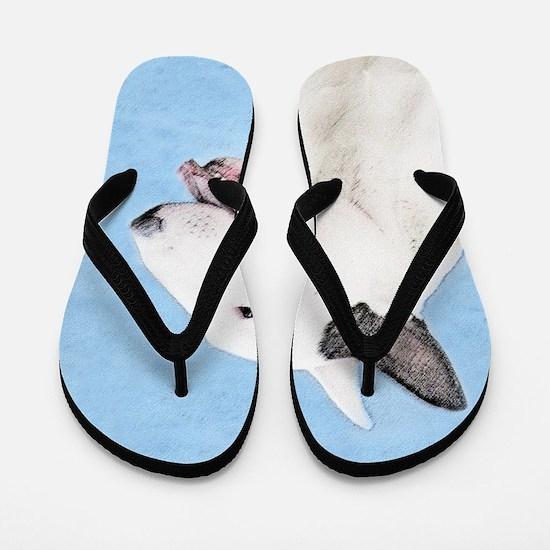 Bull Terrier Flip Flops