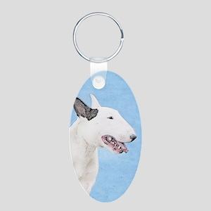Bull Terrier Aluminum Oval Keychain