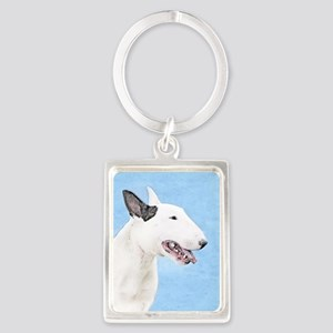 Bull Terrier Portrait Keychain
