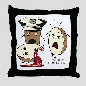 Donut Homicide Throw Pillow