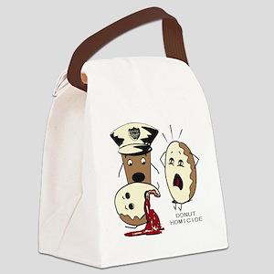 Donut Homicide Canvas Lunch Bag
