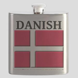 Lucky Enough To Be Danish Dansk Shirt Flask