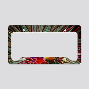 Fractal Bird of Paradise 2 Bu License Plate Holder