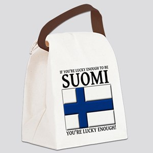 Lucky Enough To Be Suomi Finnish  Canvas Lunch Bag
