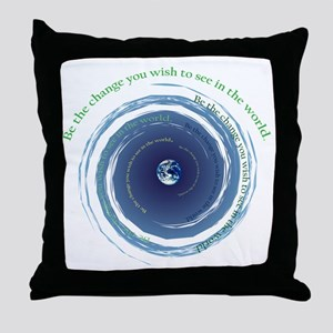 Be The Change Throw Pillow