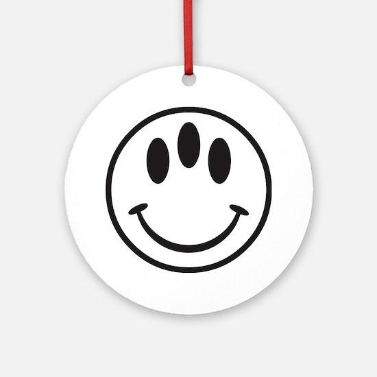 Third Eye Smiley Round Ornament