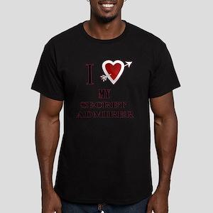 I love my secret admir Men's Fitted T-Shirt (dark)