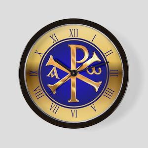 Chi-Rho clock Wall Clock
