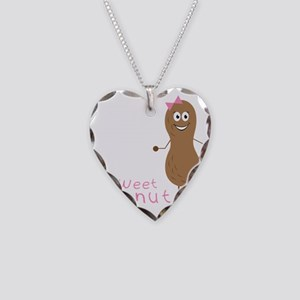 Sweet Peanut Necklace Heart Charm