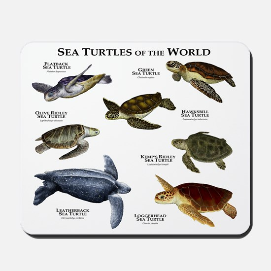 Sea Turtles of the World Mousepad