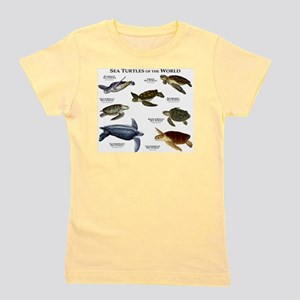 Sea Turtles of the World Girl's Tee