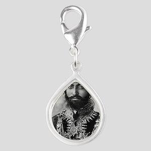 Haile Selassie I in officia Silver Teardrop Charm