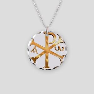 KI RHO Necklace Circle Charm