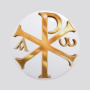 KI RHO Round Ornament