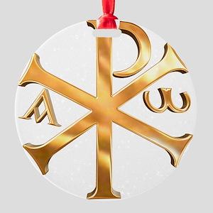 KI RHO Round Ornament