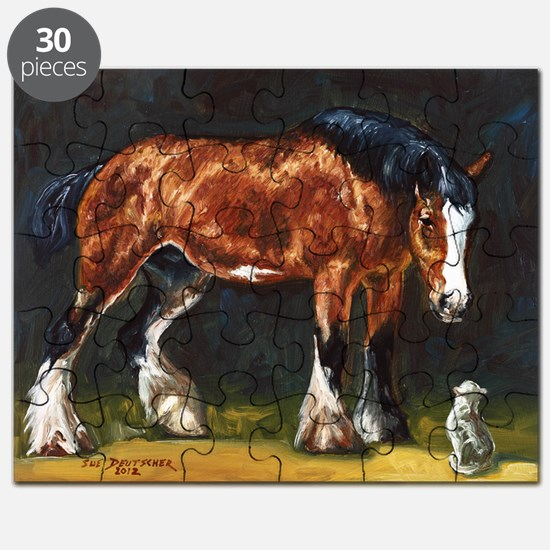 Clydesdale Horse and Cat Puzzle