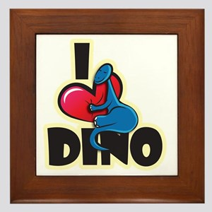 I Love Dino Framed Tile