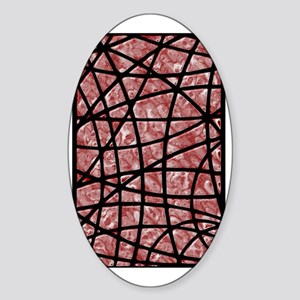 Abstract Marble Look Sticker (Oval)