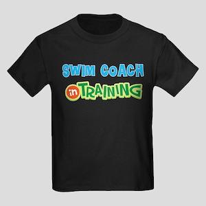 Swim Coach in Training Kids Dark T-Shirt