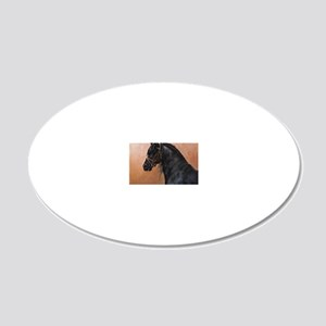 Friesian Horse 20x12 Oval Wall Decal