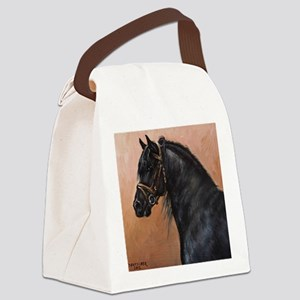 Friesian Horse Canvas Lunch Bag