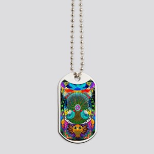 Trippy Tree Owl Dog Tags