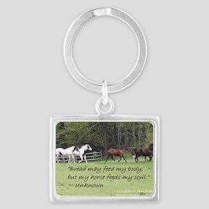 Horses feed my soul Landscape Keychain