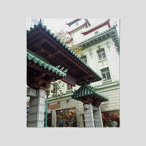 Chinatown, San Francisco Throw Blanket