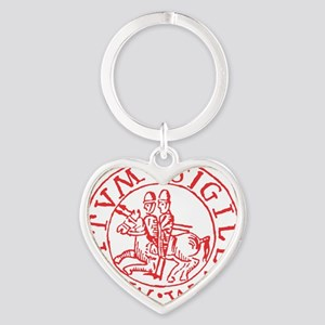 Knights Templar Heart Keychain