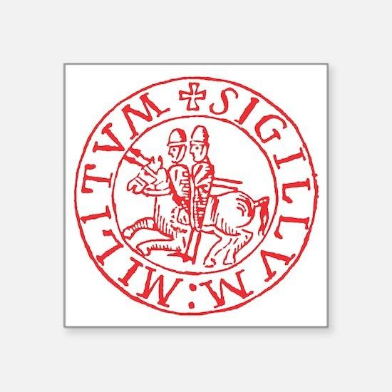 """Knights Templar Square Sticker 3"""" x 3"""""""